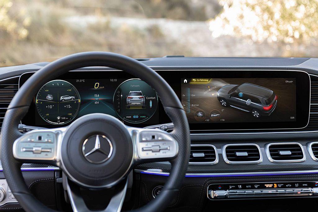 全新Mercedes-Benz GLS車艙導入品牌最新科技,包括雙12.3吋液晶...