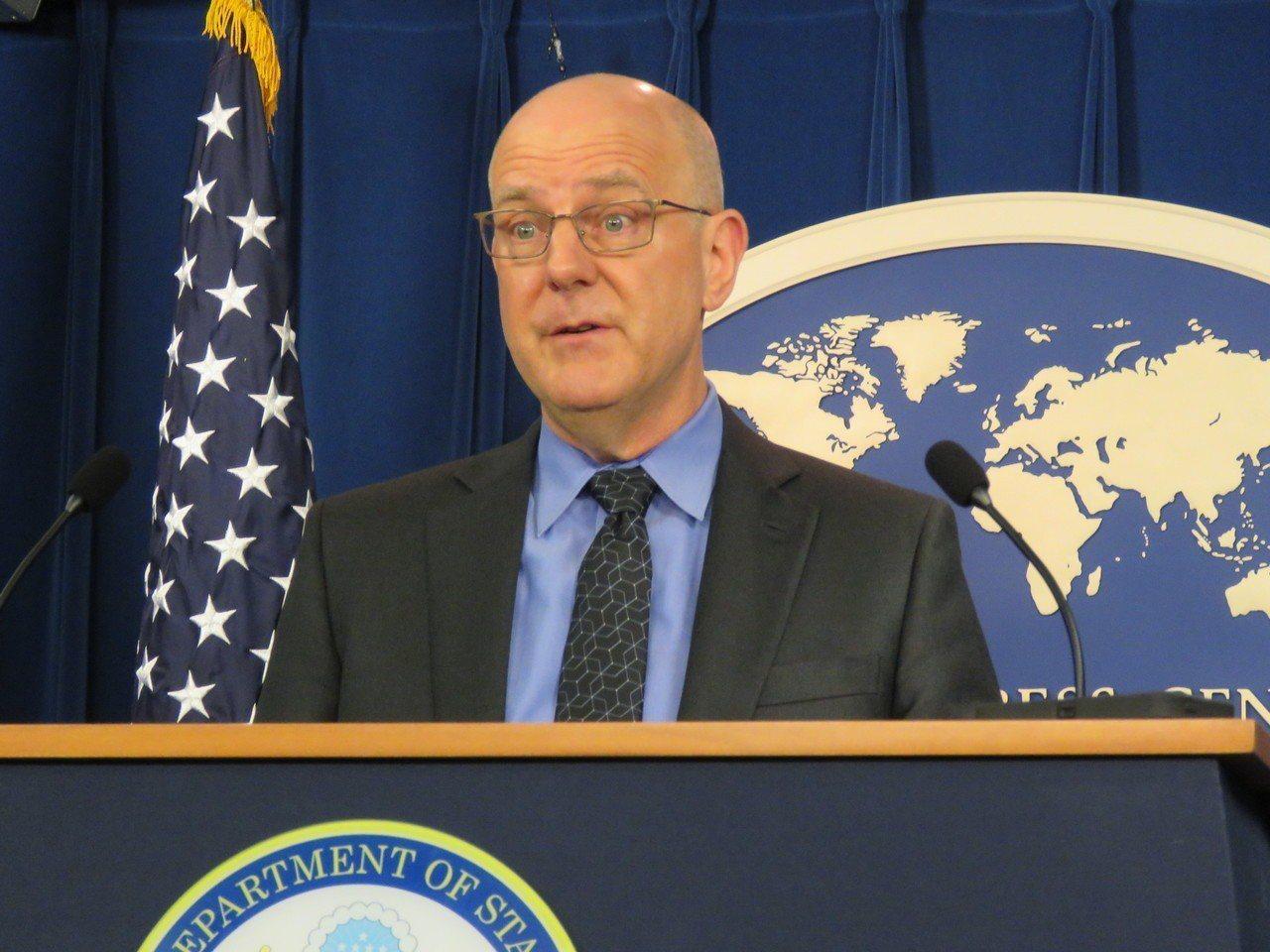 美國國務院經濟與商業事務局貿易政策談判副助理國務卿米德偉。華盛頓記者張加/攝影