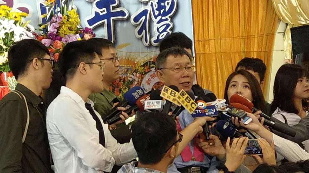 為了都更條例,台北市長柯文哲上午再度砲打內政部。記者楊正海/攝影