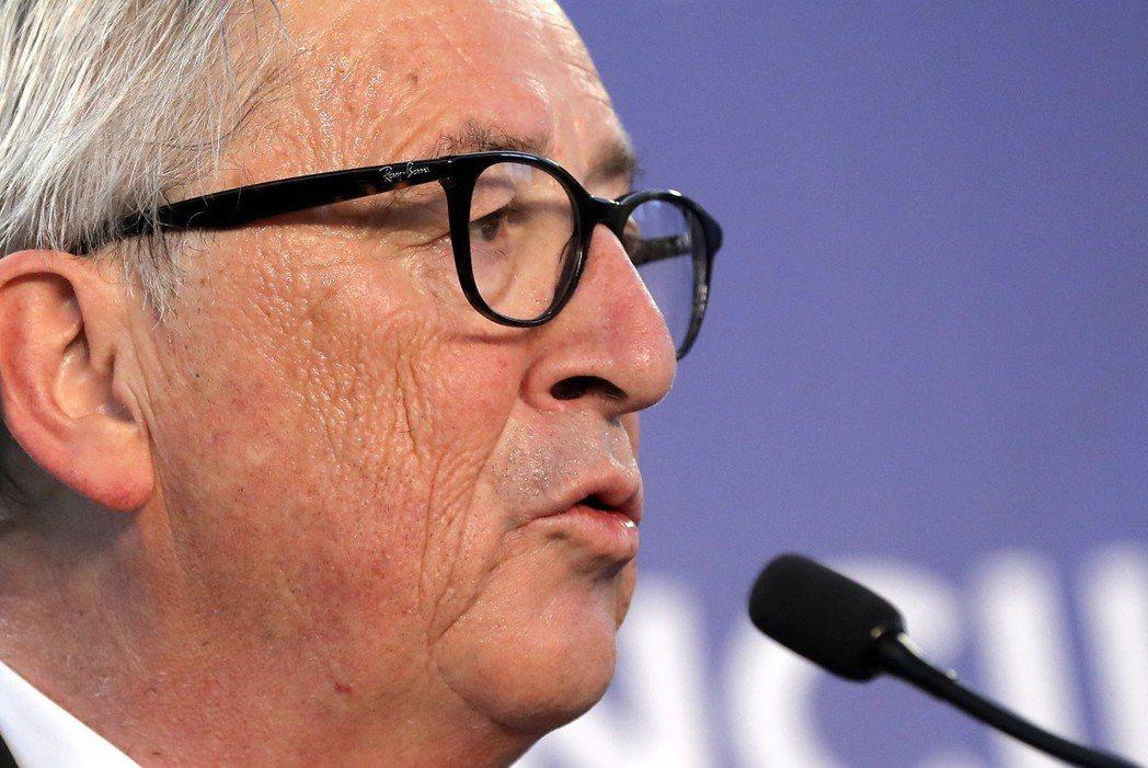 歐盟執委會主席容克爾。歐新社。
