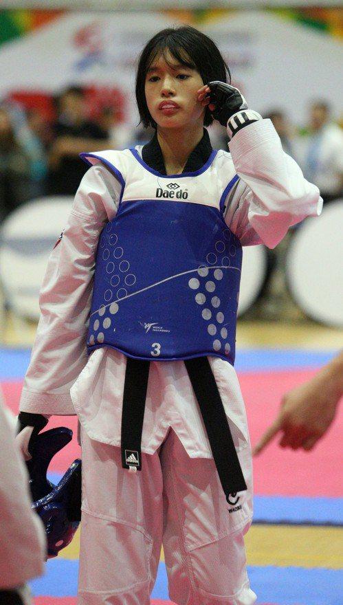 朱曼琳完成國女59公斤級2連霸。記者劉學聖/攝影
