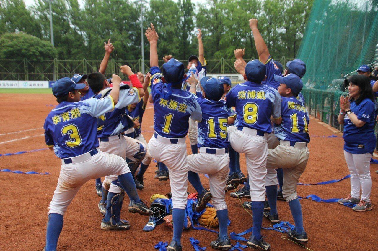 桃園市在謝國城少棒賽奪冠,搶下LLB中華隊代表權。記者葉姵妤/攝影