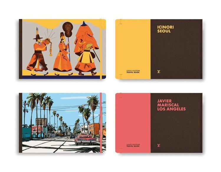 路易威登旅遊繪本新推出洛杉磯、首爾。圖/LV提供