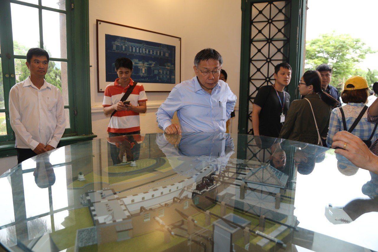 台北市長柯文哲參加「公館小觀音山秘境一日遊」。記者魏莨伊/攝影