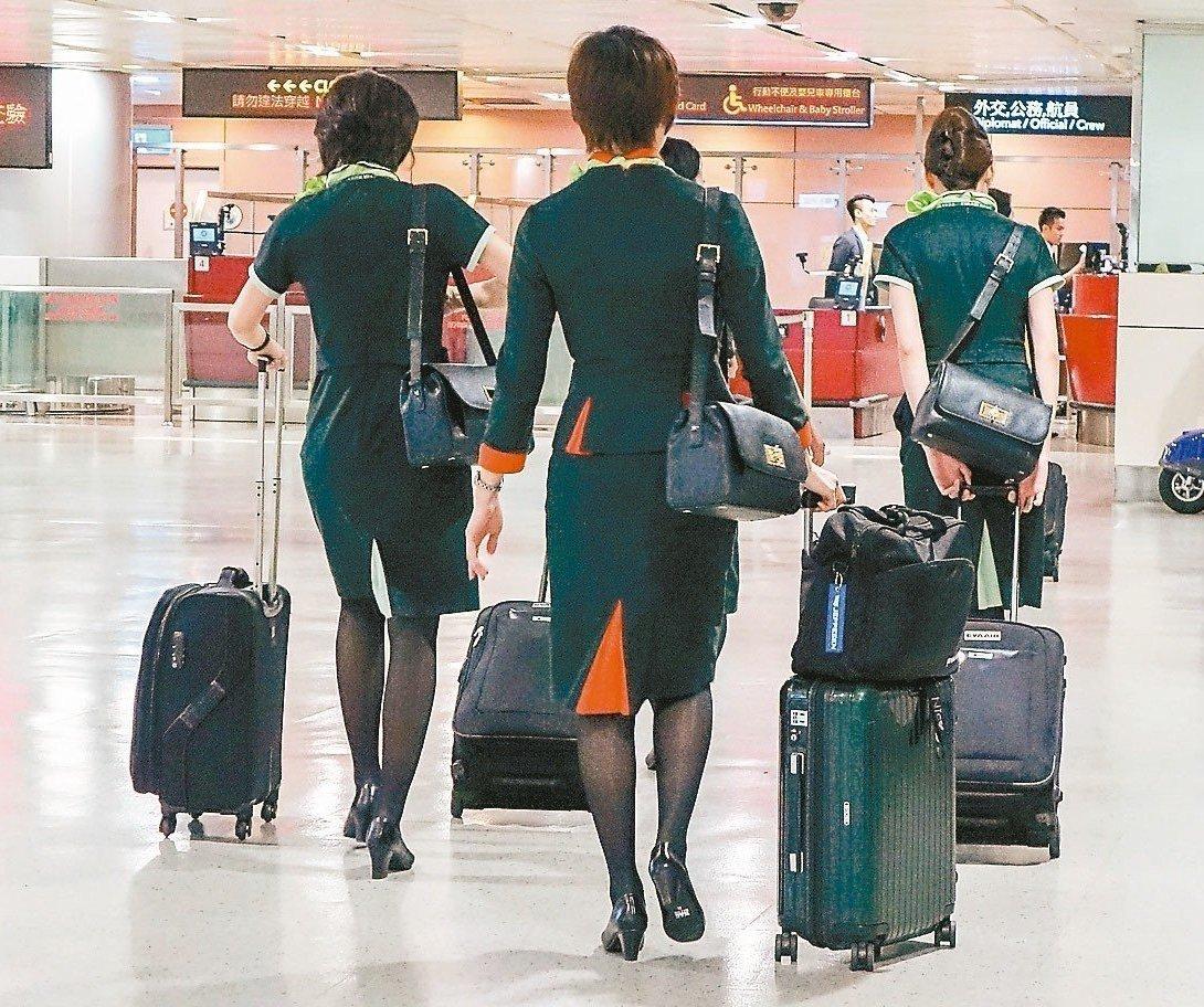 長榮航空空服員將正式啟動罷工投票。 圖/聯合報系資料照片