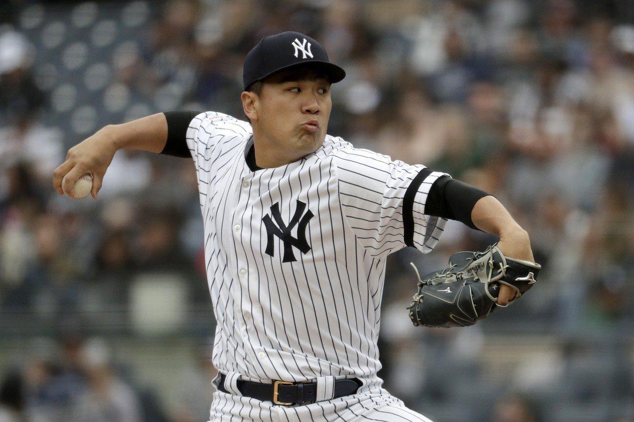 洋基日籍投手田中將大以七局僅失一分的好投拿下本季第二勝。 美聯社