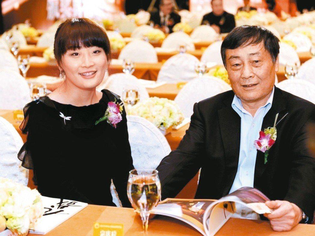 娃哈哈集團創辦人宗慶後(右)與女兒宗馥莉 網路照片