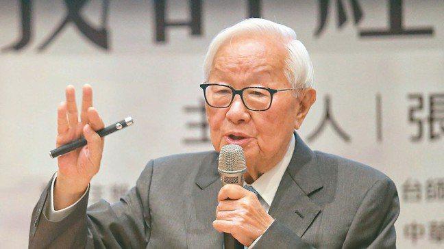 台積電創辦人張忠謀以「我的經營學習」為題發表演講。 記者鄭清元/攝影