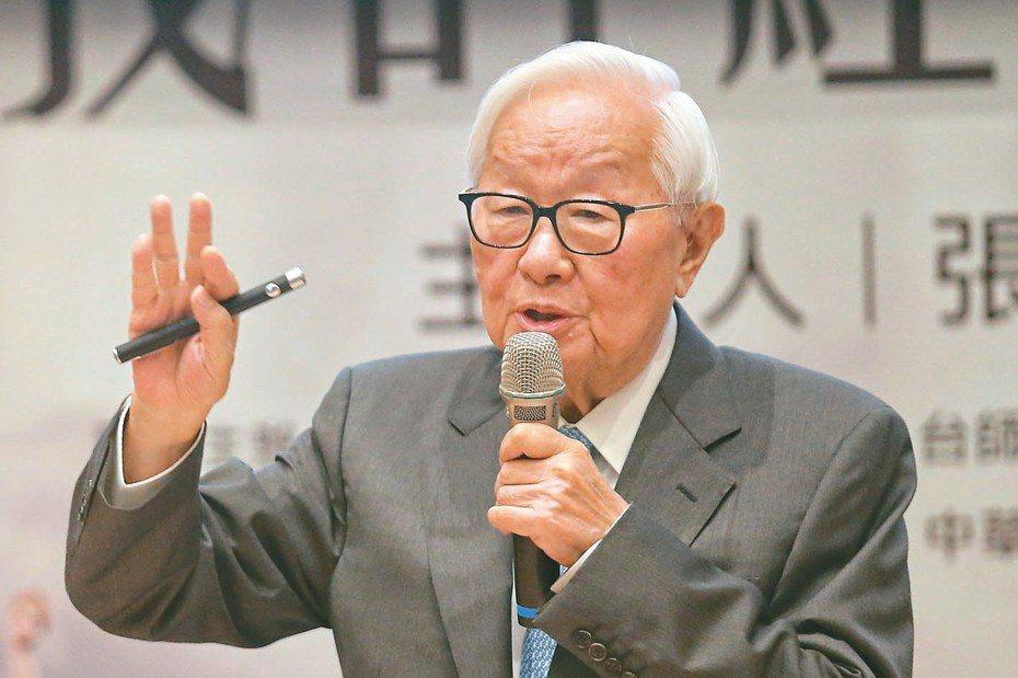 台積電創辦人張忠謀昨天以「我的經營學習」為題發表演講。 記者鄭清元/攝影