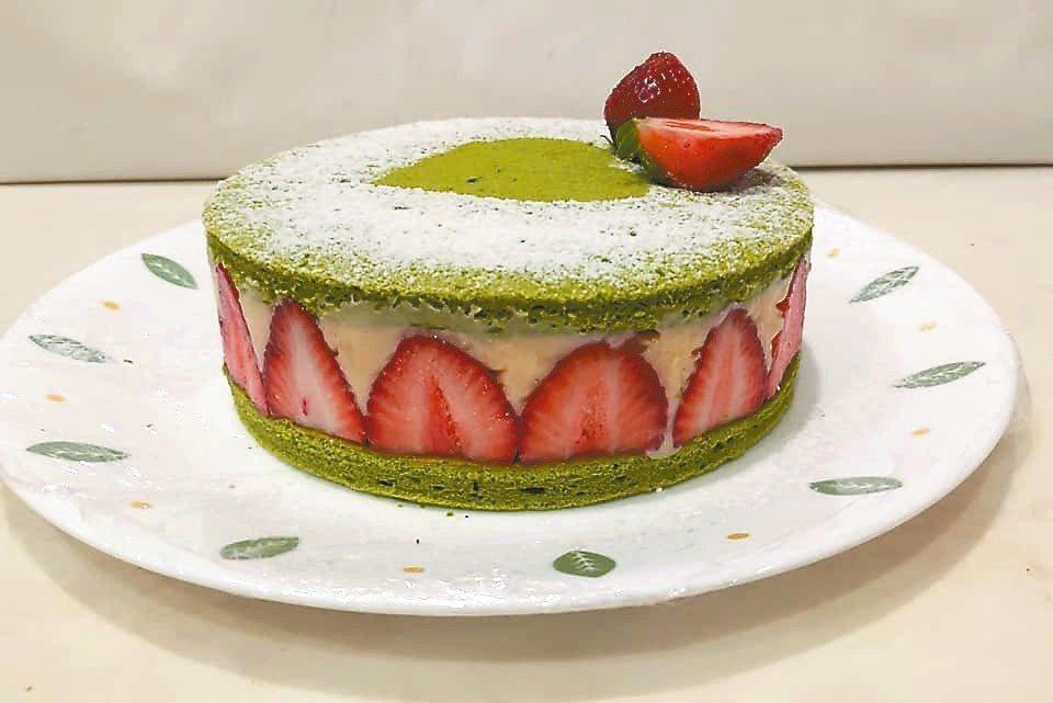 抹茶草莓卡士達 圖/陳今珍提供
