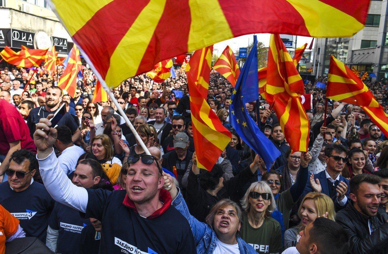 馬其頓大選。 歐新社