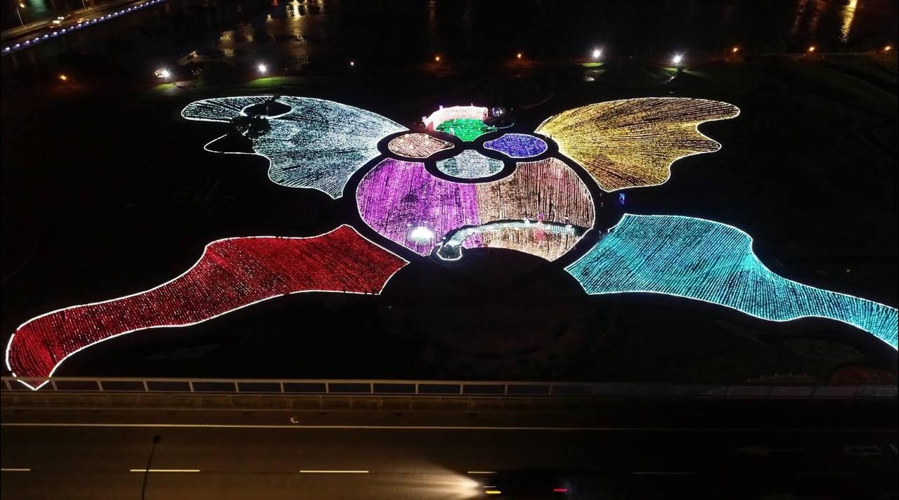 圖/壯觀的光雕地景。擷取自我的新北市粉絲團。
