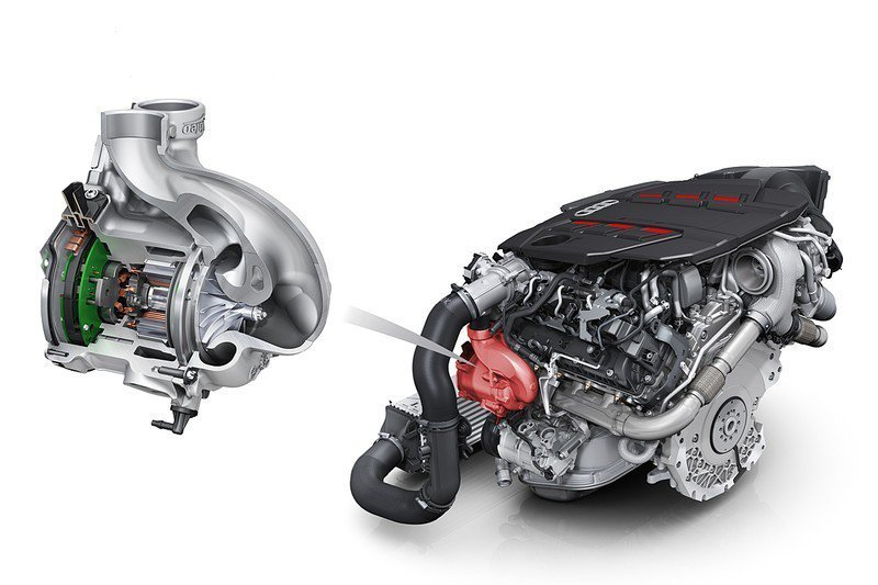 Audi S TDI家族都導入EPC電子渦輪系統。 摘自Audi