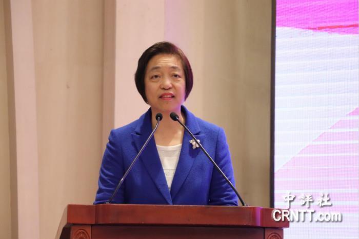 大陸全國政協副主席、台盟中央主席蘇輝。中評社