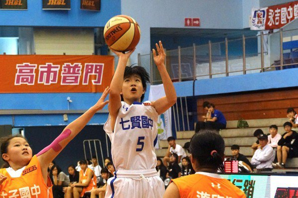 JHBL/陳嬿恩超高弧度三分球逆轉 七賢再奪第五名