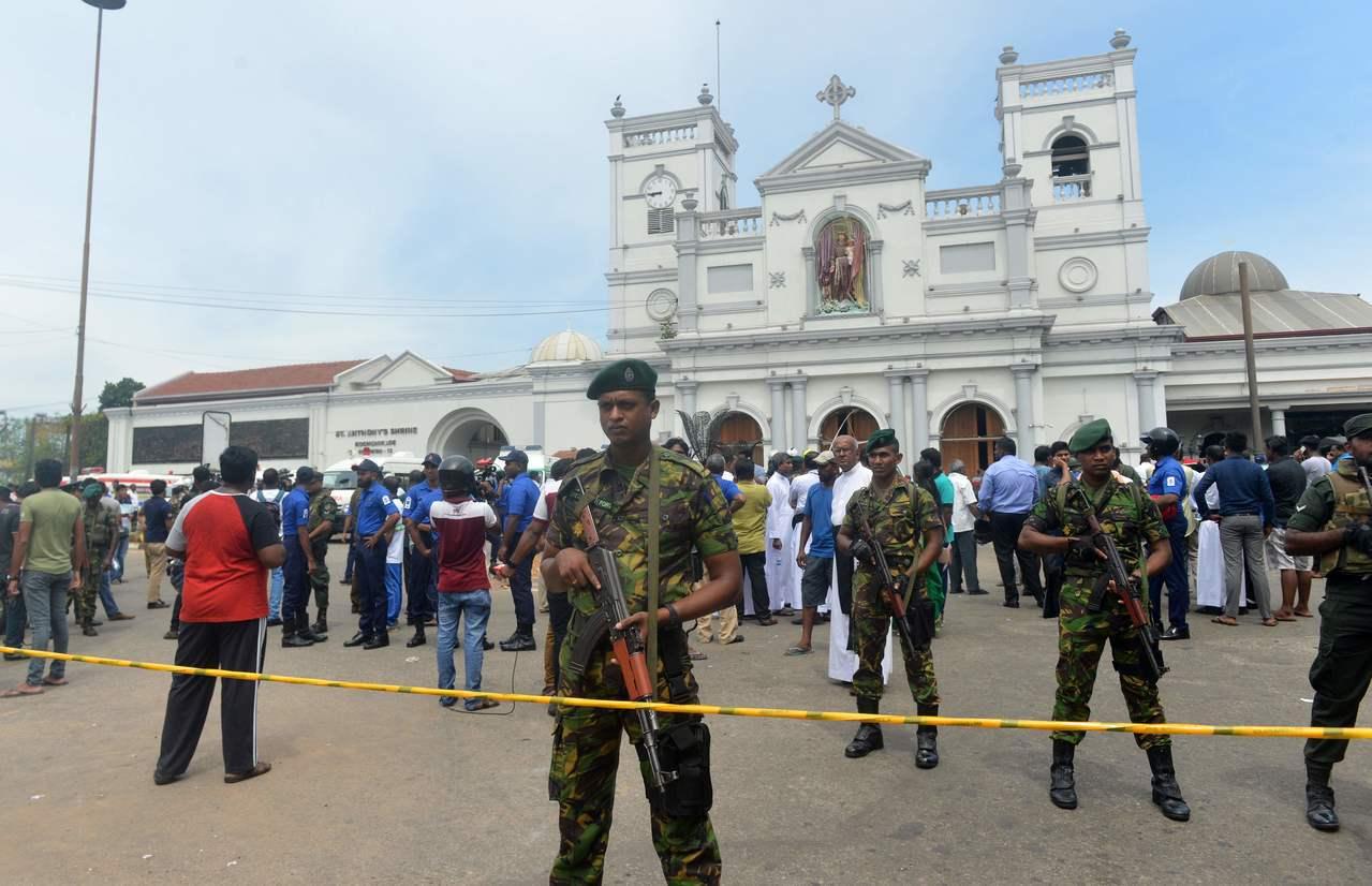 斯里蘭卡21日至少有3家旅館和3間教堂發生爆炸,圖為首都可倫市坡科奇克德的聖安東...