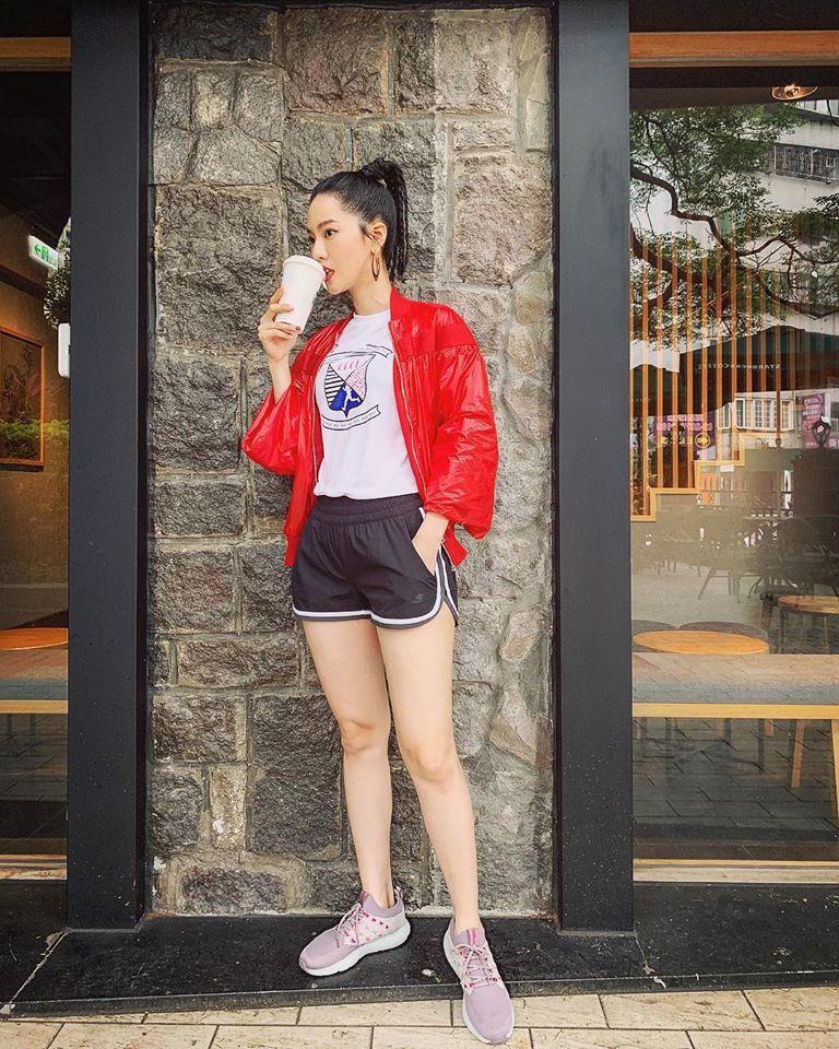 曾之喬日前參加路跑,一身勁裝露美腿,吸引粉絲暴動。圖/摘自臉書