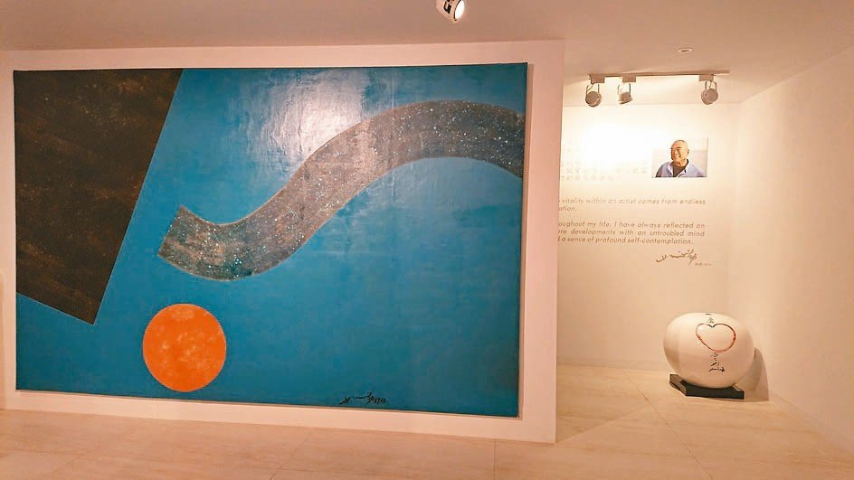 華人抽象大師蕭勤畫作。 高雄蕭勤藝術中心╱攝影
