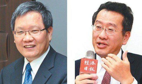 財政部長蘇建榮(左)金管會主委顧立雄(右)