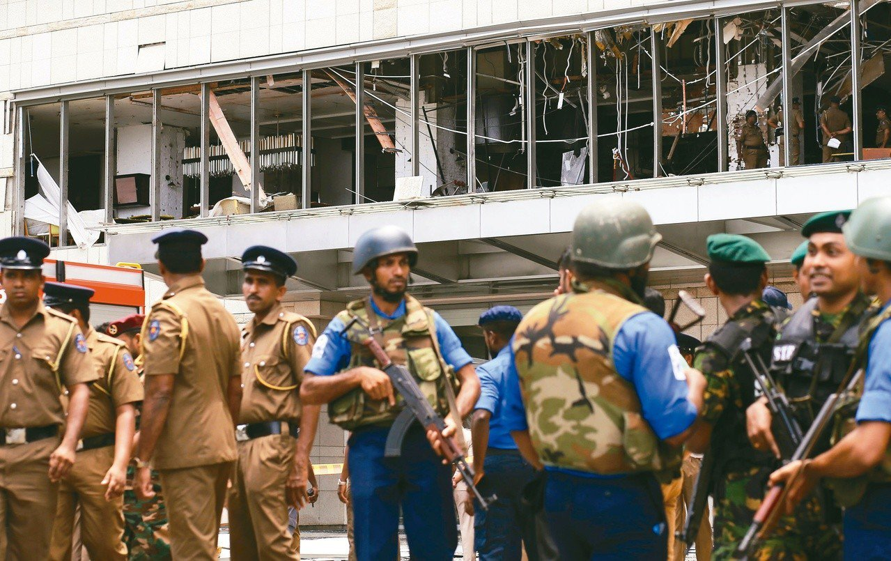 可倫坡的香格里拉飯店21日遭到炸彈攻擊。 歐新社