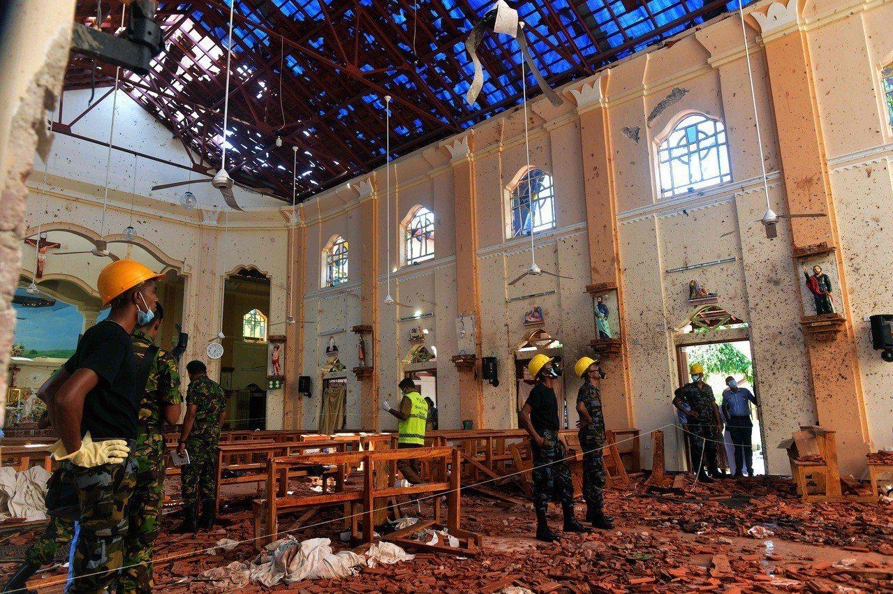 斯里蘭卡多間教堂及高檔飯店昨天發生爆炸。 法新社