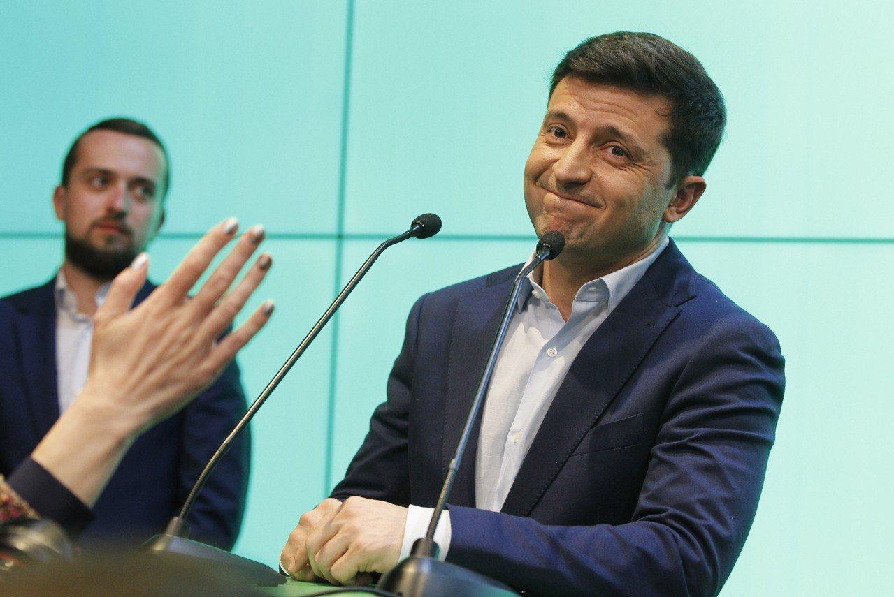 烏克蘭新總統澤倫斯基(Volodymyr Zelensky)。 歐新社