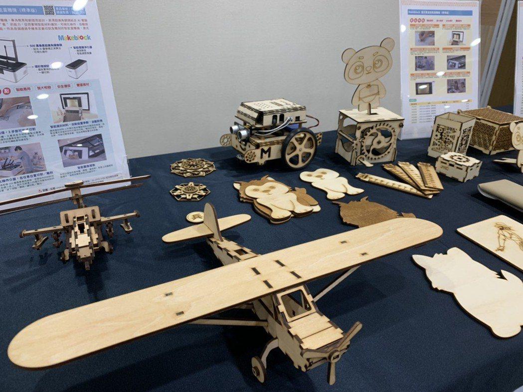 LaserBox激光寶盒幫助學生所繪即所得,創造出更多雷雕作品。 吳佳汾/攝影