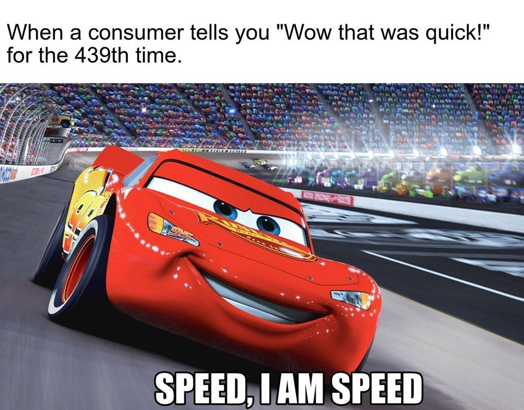 當你第439次聽到顧客說「哇,你的手腳真快」的時候