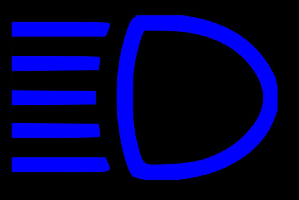 大燈(遠光燈)圖示。