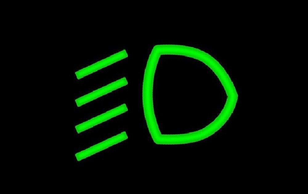 大燈(近光燈)圖示。