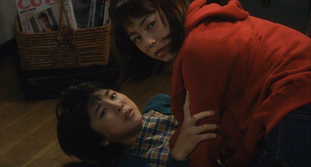 竹內結子(左)與佐藤仁美扮演被貞子詛咒纏身的青少年。圖/摘自imdb