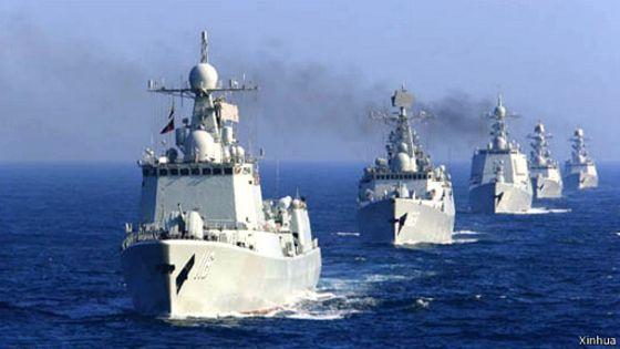 中共解放軍去年在南海舉行海上閱兵。新華網