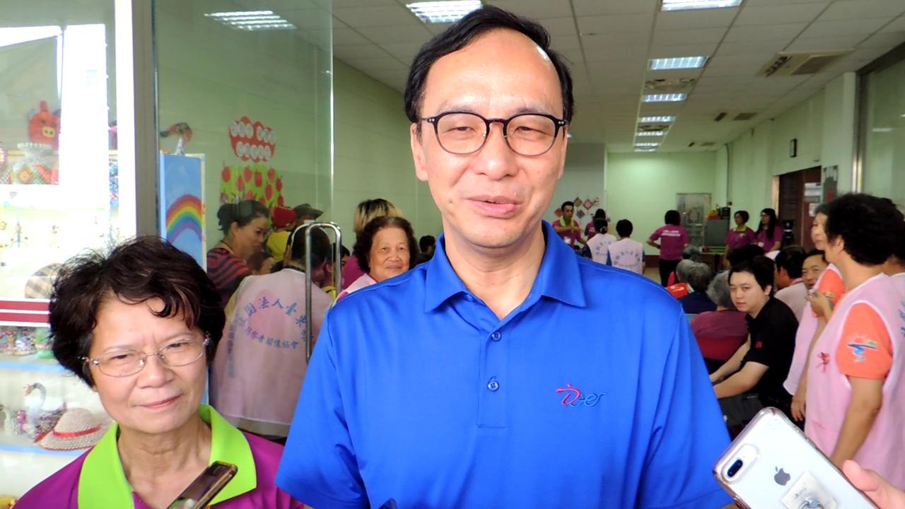 KMT中央擬徵召韓國瑜參加初選 朱立倫嘆:這是找韓麻煩。記者羅紹平/攝影