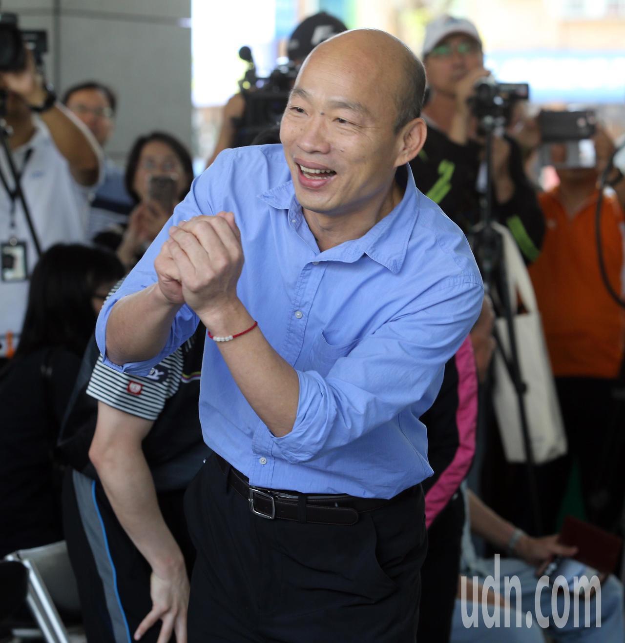 高雄市長韓國瑜最快明天表態是否角逐2020總統大位。本報資料照片