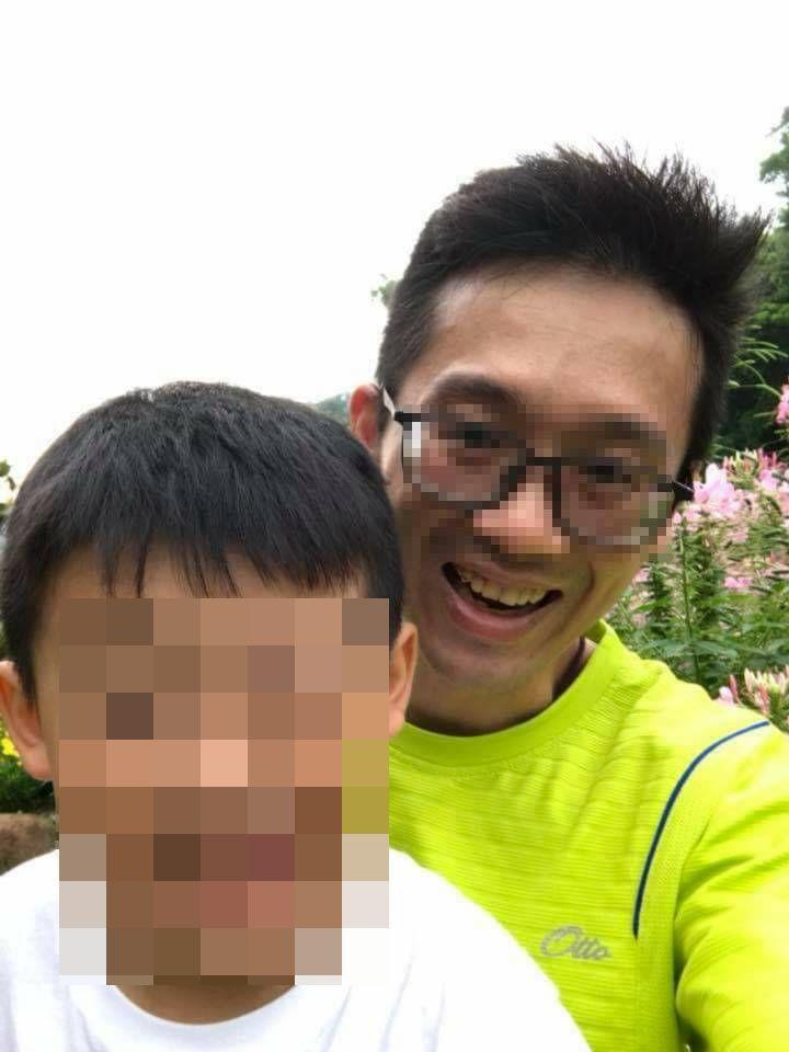 吳姓男子(右)疑是最後接觸到兒女的人,目前仍失聯不知去向,警方積極尋找中。記者林...