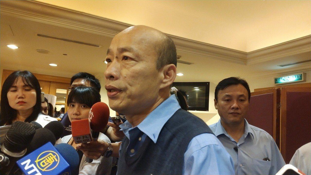 高雄市長韓國瑜今受訪說,對於2020的態度,他將盡快發表聲明。記者蔡孟妤/攝影