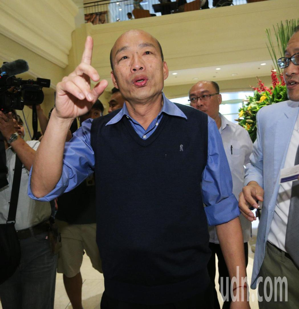 對於是否參選 2020 大選,高雄市長韓國瑜今天中午接受媒體採訪時表示,本周會有...