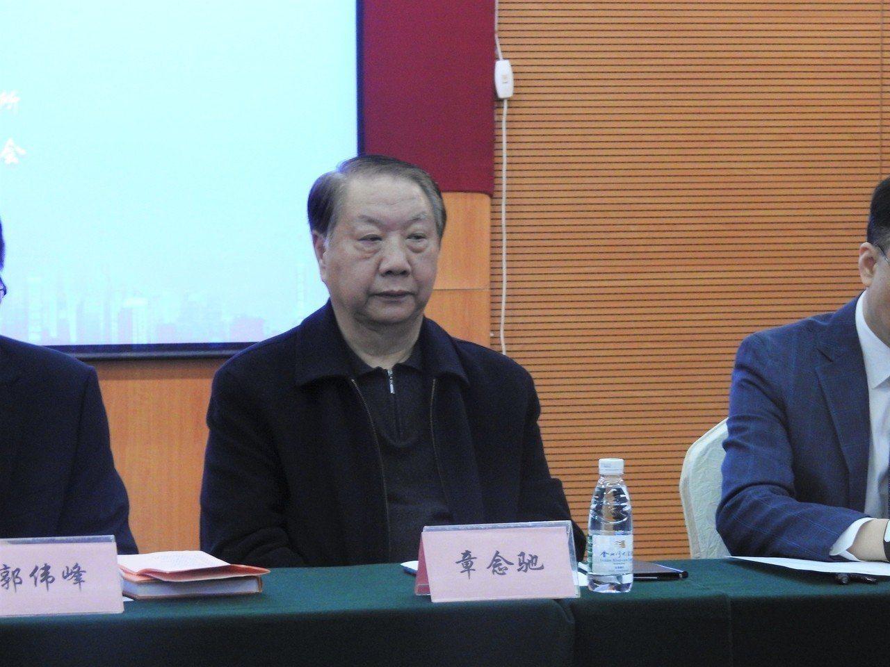 上海東亞研究所所所長章念馳。聯合報系資料照