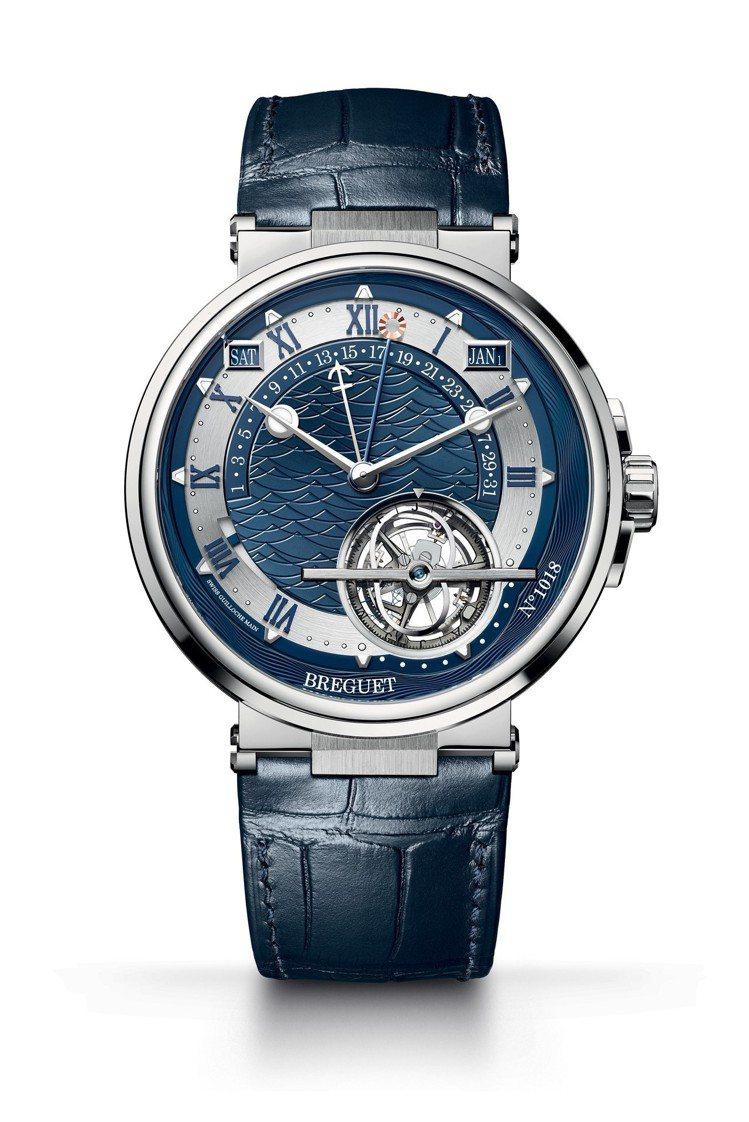 寶璣Marine 5887時間等式萬年曆陀飛輪腕表,鉑金表殼,具時間等式、萬年曆...