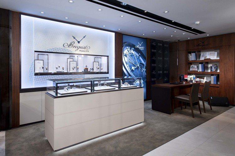 寶璣表進駐寶鴻堂台中五權旗艦店,開設全新形象店。圖/Breguet提供