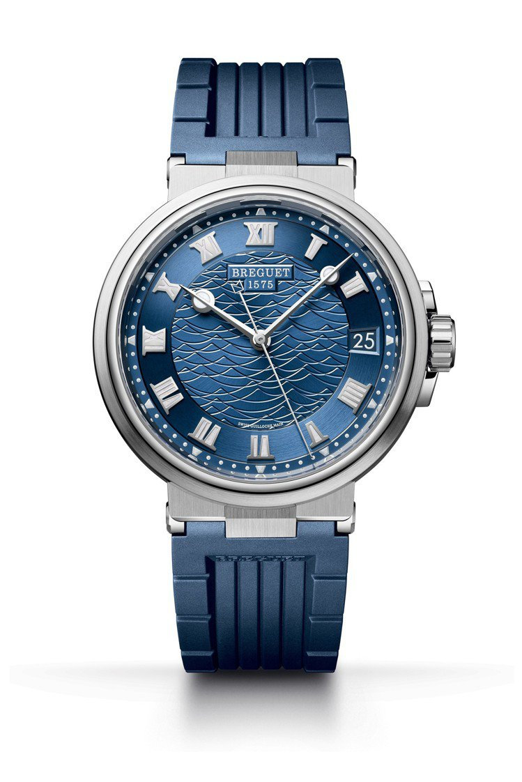 寶璣Marine 5517腕表,18K白金表殼配藍色金質表盤,具55小時動力儲存...