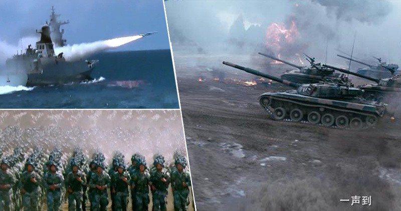 中國軍網片段截圖。香港明報