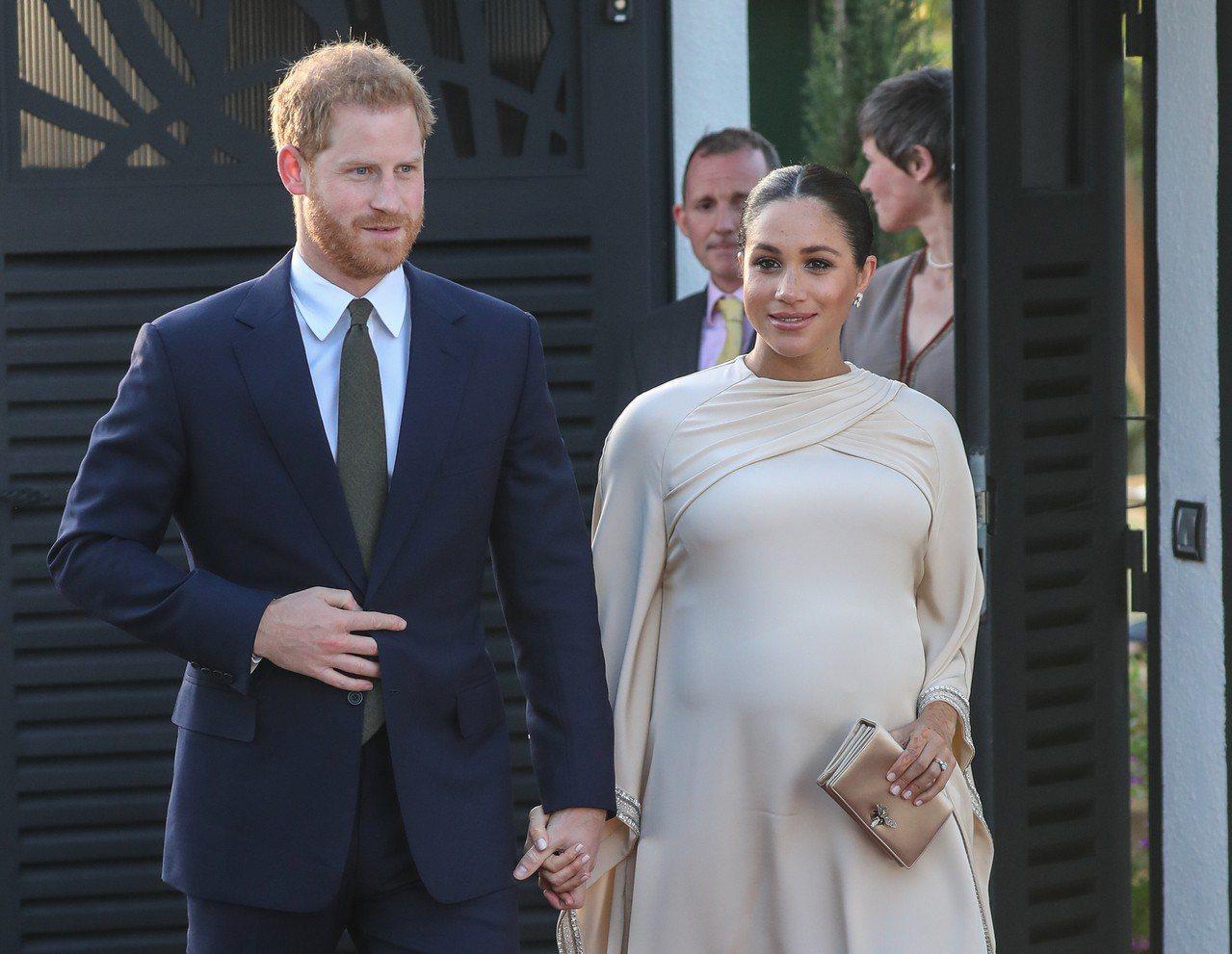 哈利王子與梅根馬克爾預計在5月初迎接新生兒。圖/達志影像