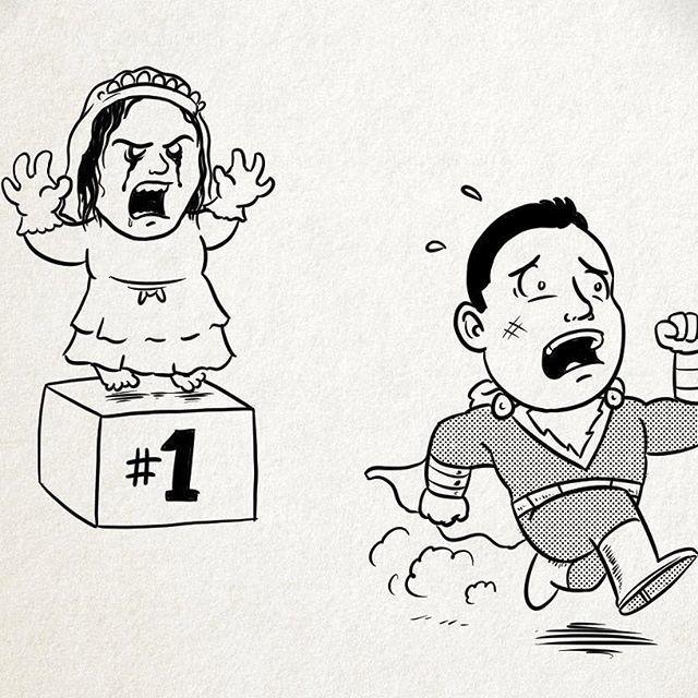 「沙贊!」導演釋出趣味繪圖,恭喜「哭泣的女人」奪冠。圖/華納兄弟提供