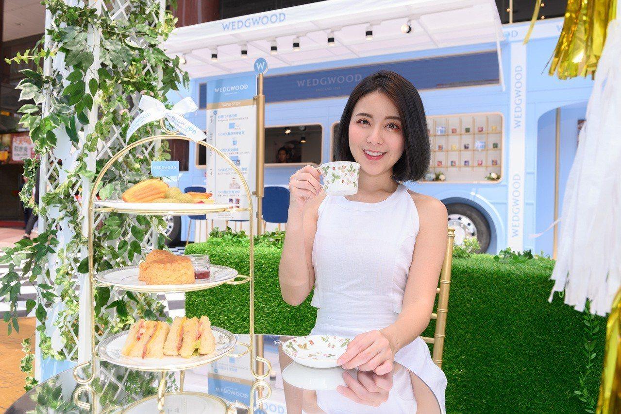 Wedgwood海外首座城市茶屋花園今年則是搬來台灣,自明(23)日起至4月30...