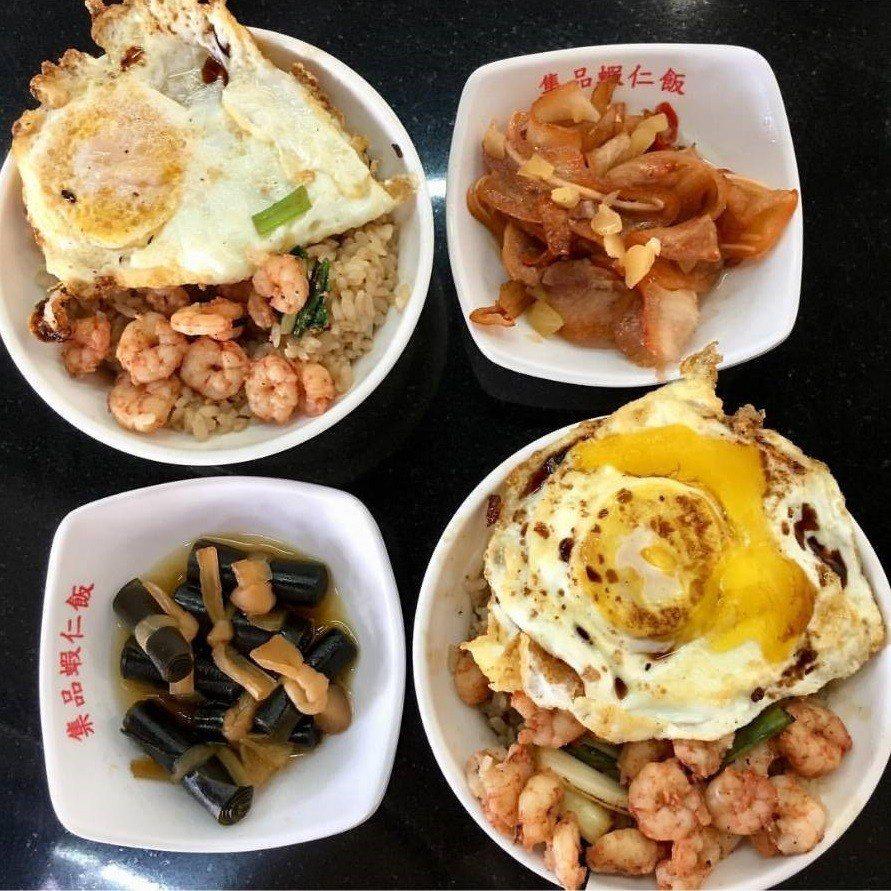 台南「集品蝦仁飯」加蛋讓人看了肚子餓。圖/IG@fei_eatfood提供
