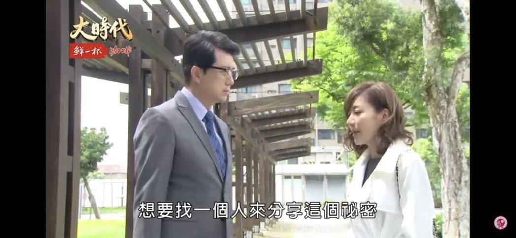 羅巧倫(右)戲裡飾演吳皓昇的前妻,近期也大回歸。圖/民視提供