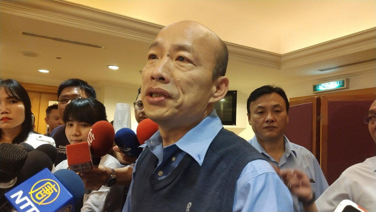 對於是否參選2020總統大選,高市長韓國瑜昨受訪說,他將發聲明說明。記者蔡孟妤/...
