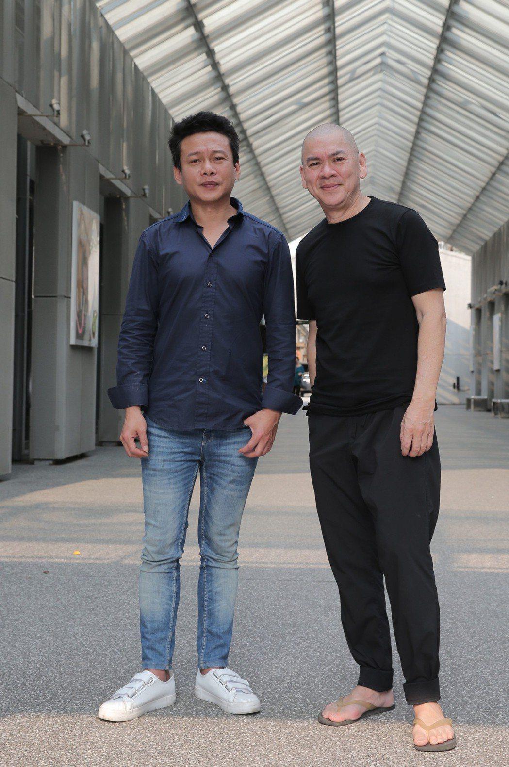 電影「你的臉」導演蔡明亮(右)、主角李康生,聯訪 。記者林俊良/攝影