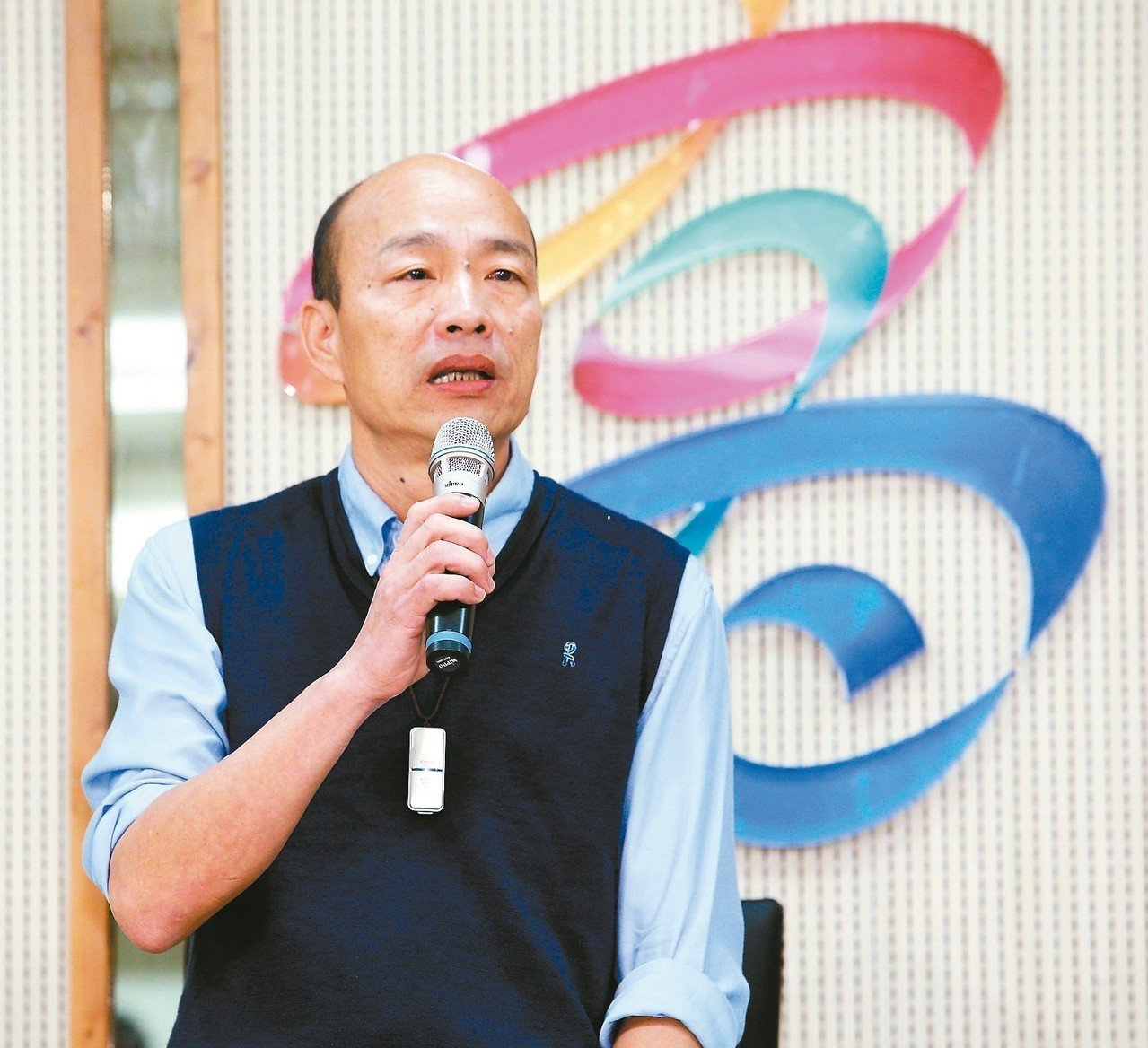 高雄市長韓國瑜上午發表聲明透露他無法參與現行國民黨的初選機制。 記者劉學聖/攝...